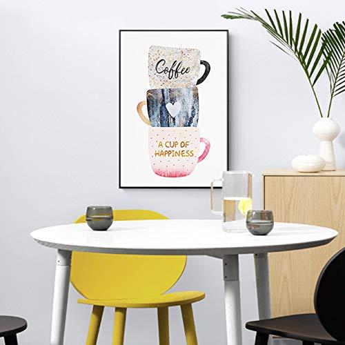 Geen frame orléans ng roman, koffiekopje melk middagthee canvas cafe olie ng, bedrukking appartement, bedrijf wallpaper60x90cm