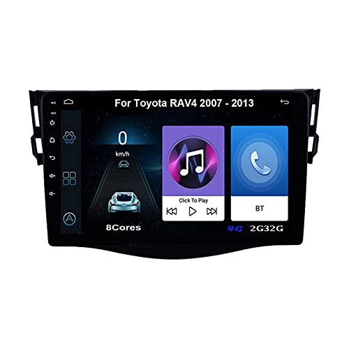 Autoradio Android Car Radio Stereo 9 Pulgadas Pantalla Táctil Para Toyota RAV4 2007-2011 Para De Coche Conecta Y Reproduce Autoradio Mit Bluetooth Freisprecheinrichtung (Color : 8Cores 4G 2G32G)