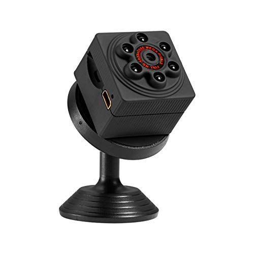 SITANKE Mini Spy Camera HD 1080P Portable Small Hidden Nanny Cam with Night Vision and Motion Detective and Indoor Covert Surveillance Camera for Home and Office