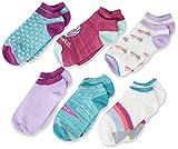 Stride Rite Girls' Toddler 6 Pack No Show, Dreaming Denise Fuchsia, Sock: 6-7.5 / Shoes: 7-10