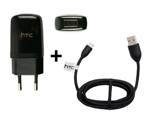 Original HTC Sensation Ladekabel Ladeadapter + Datenkabel TC-E250 + DC-M410 Netzteil Ladegerät MicroUSB