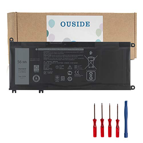 Ouside 33YDH Battery Compatible with Dell 15 7000 7577 7773 7778 7779/G3 3579 3779/G5 5587/G7 7588, Latitude 3590, Vostro 7570 7580 Series, Laptop PVHT1 99NF2 DNCWSCB6106B (56Wh)