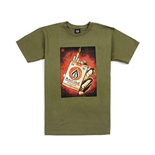OBEY - Camiseta deportiva - para hombre verde militar Small