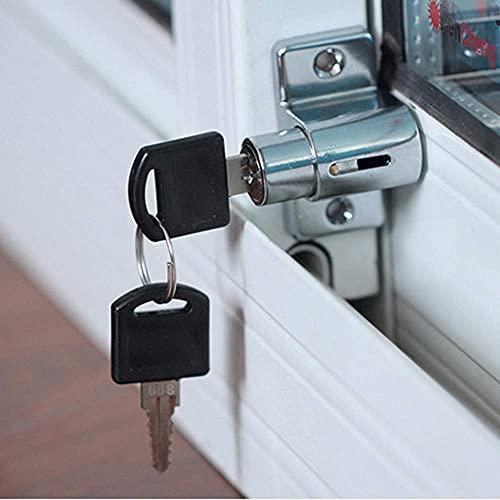 Cerradura para ventana corredera, ajustable, aleación de aluminio, cerradura de seguridad para niños, antirrobo, cerradura de puerta corredera para ventanas o puertas, cerradura universal con llave