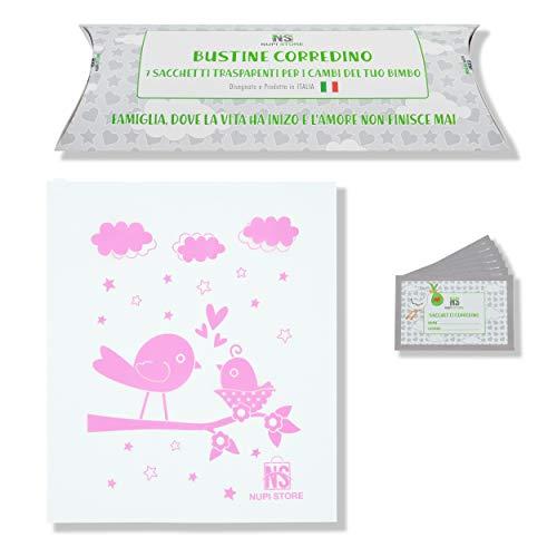 NuPi Store® 7 Bolsitas de canastilla para bebé   Sobres para maletas de hospital de nacimiento de bebés   Transparente   Cursor hermético   Idea de regalo   XXL   Antibacterianos reutilizables   Rosa
