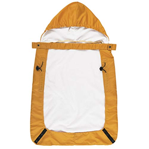 Baby Cover Windproof Cloak Blanket Baby Carrier Funtional Fall Winter Cover Blanket with Warm Pockets (Yellow, One Size)