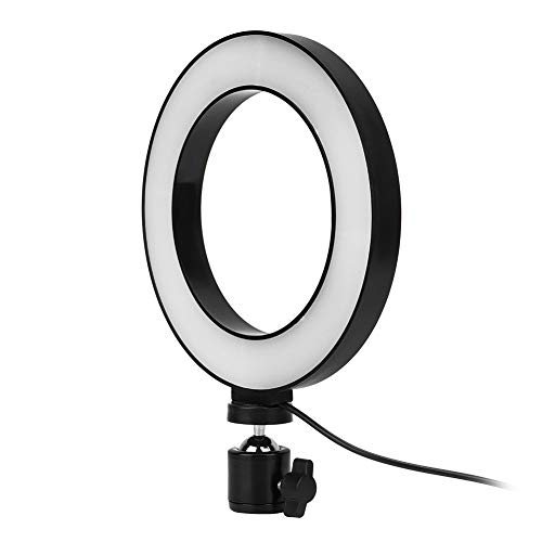 ASHATA LED Ring Light Kit, 6 inch LED Ring Light Living Broadcast Selfie Fill Lamp Dimbaar 3 lichtmodi, 10 niveaus helderheid instelbaar, voor Live Broadcast, Selfie, Makeup, Beauty Manicure