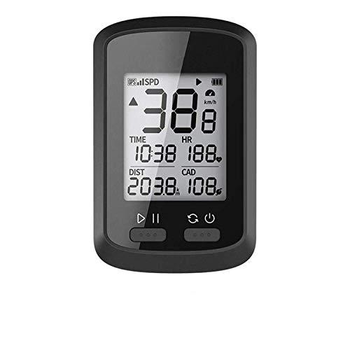 MLQ Ordenador inalámbrico para Bicicleta con GPS, cuentakilómetros Digital multifunción a Prueba...