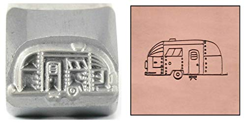 RV Camper Metal Design Stamp, 11mm Large Caravan Mobile Home Trailer Punch Stamping Tool for Hand Stamped DIY Jewelry Crafts - Beaducation Original Metal Design Stamps