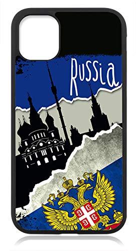 Kompatibel mit iPhone 12 PRO MAX Hülle Silikon, Handyhülle für iPhone 12 PRO MAX Schutzhülle Slim Case Cover Russland Fahne Flagge