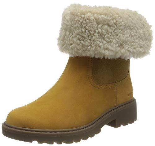 Geox J CASEY GIRL WPF C Mid Calf Boot, Yellow (Curry), 37 EU