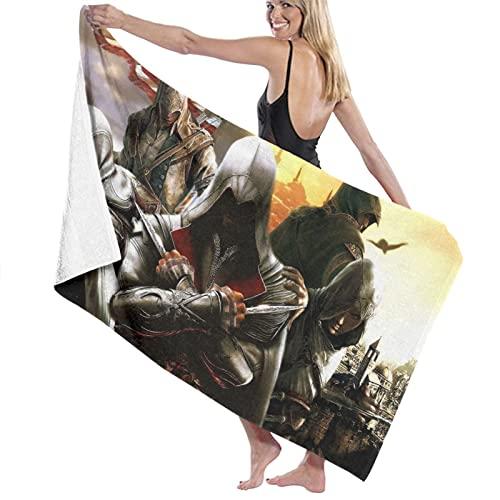 asdew987 Assassin'S Creed Logo toalla de playa juego de baño toallas de baño accesorios toalla de piscina viaje y baño toalla 80 cm x 130 cm ✅