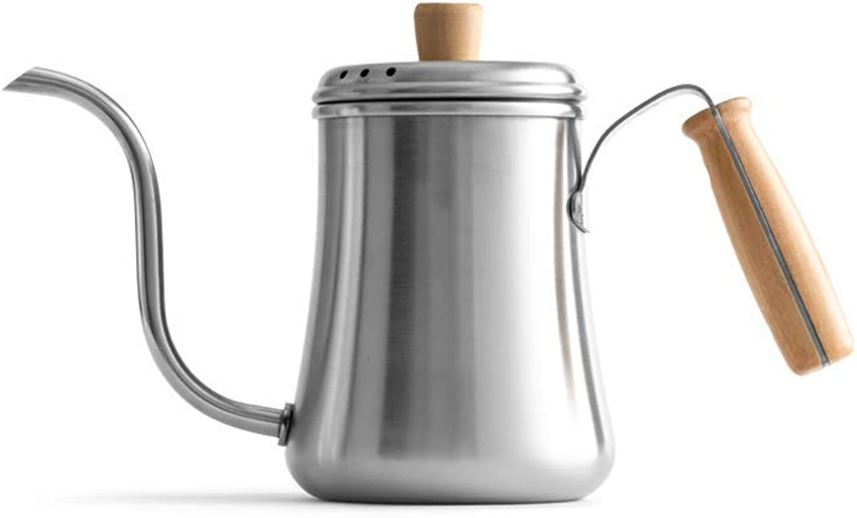 precios ultra bajos NYDZDM Mano Mano Mano Pote Acero Inoxidable Boca Pote Goteo Elaboración de café Cafetera Boca Larga Control Hervidor 1L  hasta un 65% de descuento