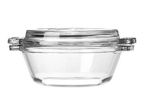 Anchor Hocking 77889 Fire-King Casserole Baking Dish with Lid, Glass, 20-Ounce