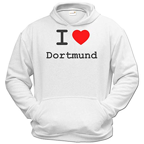 getshirts - Best of - Hoodie - Love - I Love Dortmund - Weiss XXXL