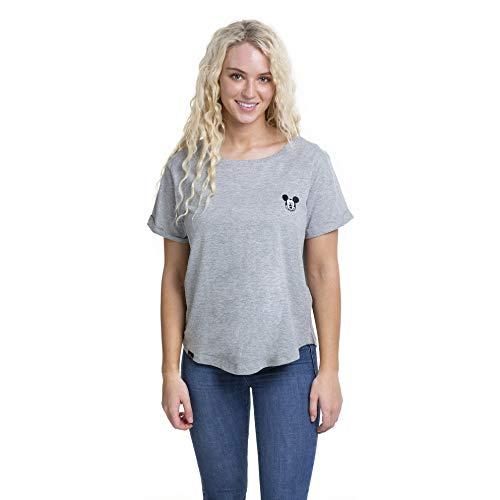 Disney Mickey Face EMB T-Shirt Camiseta, Gris (Sport Grey SP