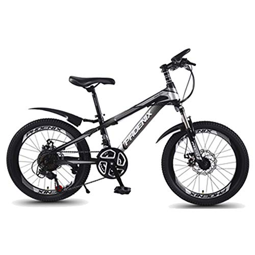 BAOMEI Kids Bike 20' Kids Outdoor Bicycle 21-Speed Adjustable,for 9-14Years Old Boys and Girls Adjustable Children Mountain Bike,Gray