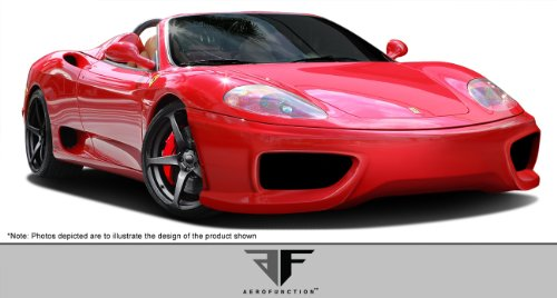 Brightt Aero Function ED-WWO-751 AF-1 Front Bumper Cover (GFK) - 1 Piece Body Kit - Compatible With 360 Modena 1999-2004