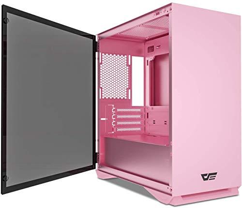 DarkFlash DLM22 Neo Pink, Micro ATX Gehäuse, Sie brauchen EIN M-ATX Mainboard und kein ATX Mainboard!