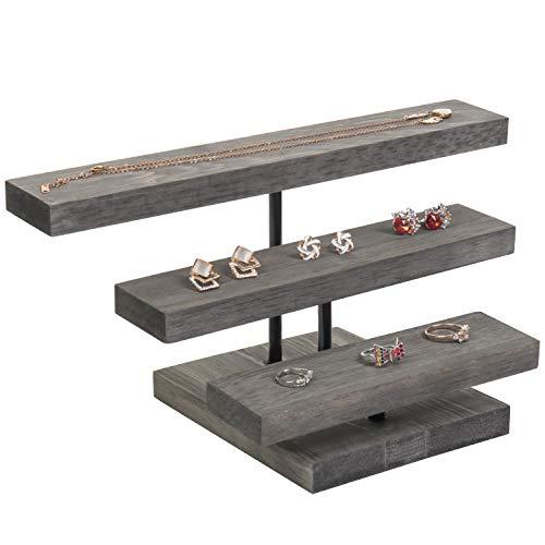 3-Tier Wood Jewelry Display Riser
