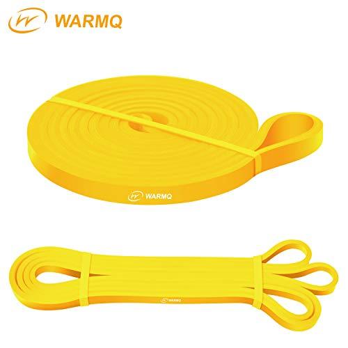 WARMQ Fitnessbänder Widerstandsbänder einzelner Klimmzugband für Muskelaufbau Yoga und Gymnastik Pull Up Trainingsband mit höher Elastizität ideal als Unterstützung gelb 2-15lbs