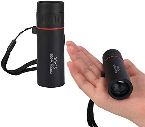 RDJZDQ Single Binoculars Portable Miniature Visiting Binoculars Adult Outdoor Camping Hunting Optical Telescope Scope Super Lightweight for Adults and Children