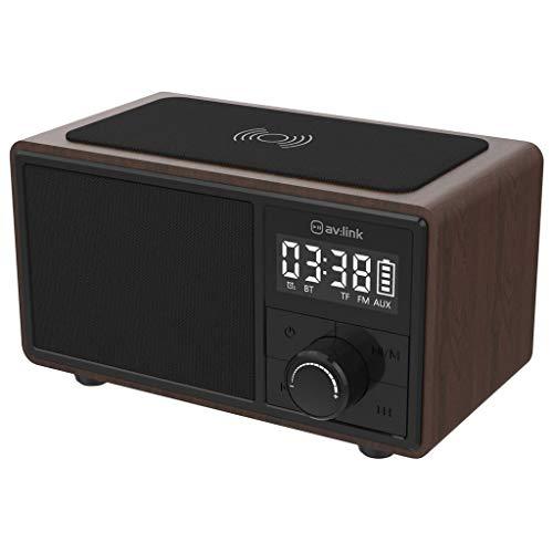 av: link Fusion Bluetooth-luidspreker wekker draadloze mobiele telefoon laadstation