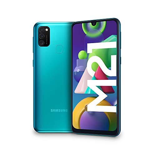 Samsung Galaxy M21, Smartphone, Display 6.4' Super AMOLED, 3 Fotocamere Posteriori, 64GB Espandibili, RAM 4 GB, Batteria 6000 mAh, 4G, Dual Sim, Android 10, 188 g, [Versione Italiana], Green