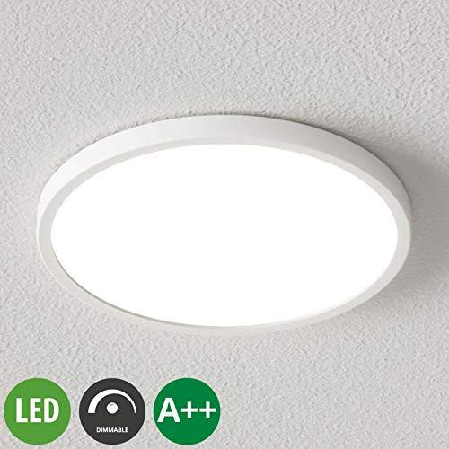Arcchio LED Deckenleuchte 'Solvie' dimmbar (Modern) in Weiß u.a. für Flur & Treppenhaus (1 flammig, A++, inkl. Leuchtmittel) - Lampe, LED-Deckenlampe, Deckenlampe, Flurleuchte