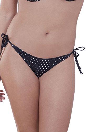 Lepel Mini Heart Tie Side Bikini Brief Black/Cream US Medium