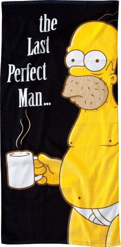Simpsons - Badetuch - Homer - The Last Perfect Man - 150 x 75 cm