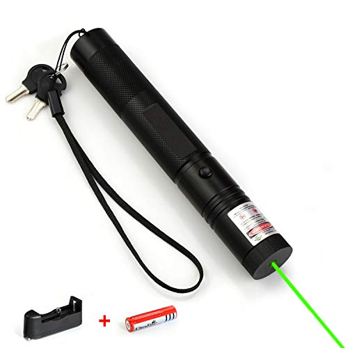 Green Light Long Range High Power Pointer, Tactical Handheld Rechargeable Flashlight Adjustable Focus for Night Outdoor Work