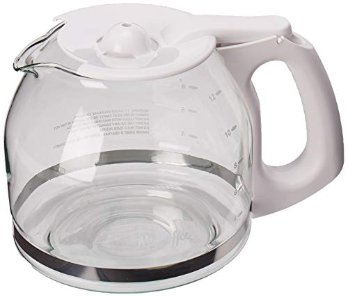 Mr. Coffee Replacement 12-Cup Glass Carafe, White -