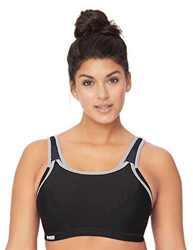 Glamorise Damen Verstellbarer, bügelloser Hochleistungs-Sport-BH Nr.1167