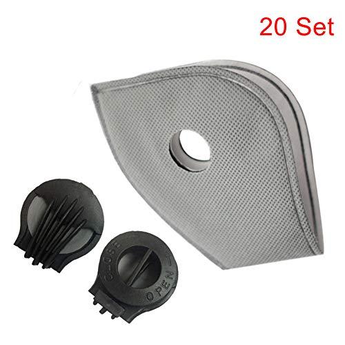 Gelentea PM2.5 Filtres de protection visage en charbon actif avec...