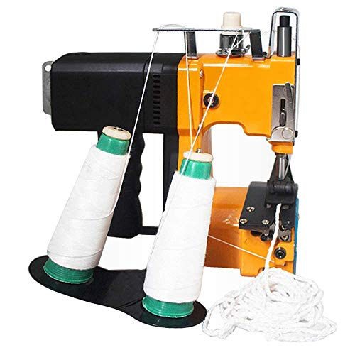 Fantastic Prices! Hanchen Mini Bag Closing Machine Portable Bag Closer Electric Double Thread Sewing...