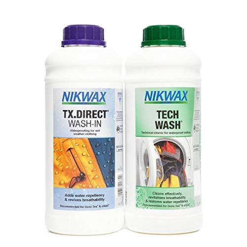 Nikwax Tech Wash et TX -Double paquet de lavage direct - Transparent - 2x1L