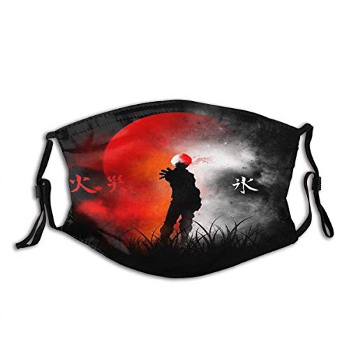 Face Cover Mouth Cover Ice and Fire Poster Balaclava Unisex Reusable Mouth Bandanas Outdoor Camping Motorcycle Running Neck Gaiter For Adult