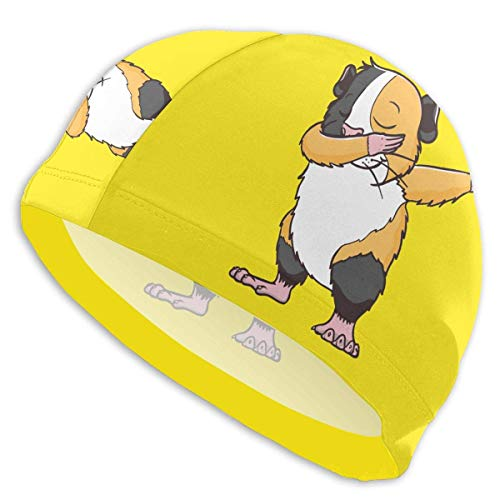 HFHY Dabbing Guinea Pig Adult Summer Time Beach Bath Caps for Men Women Unisex