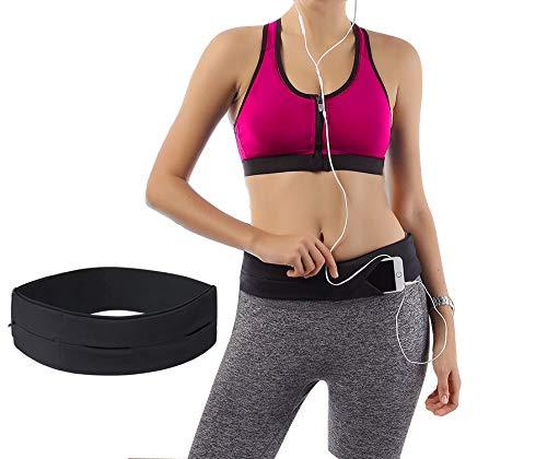 Mespirit Running Belt Waist Pack,Spybelt,Pouch Belt Zero Bounce, Adjustable, Exercise Belt, Fuel, Stylish Sports Waist Fanny Pack For Men Women Android iPhone