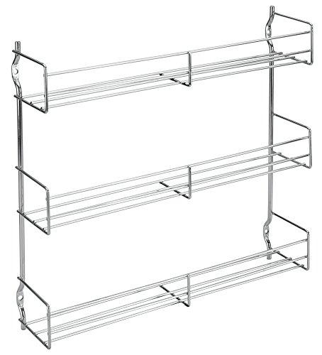 Metaltex 364613010 - Estantería metálica de 3 estantes para Especias (30 x 7 x 30 cm)