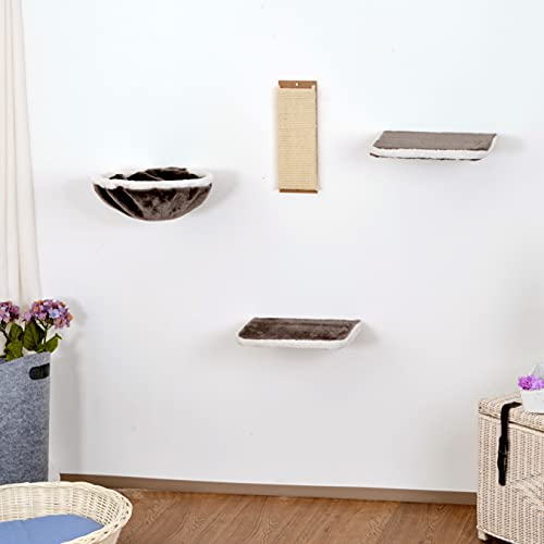 Silvio Design 21877.102 Katzen-Kletterwand 4-teilig dkgrau-hlgrau, 3600 g