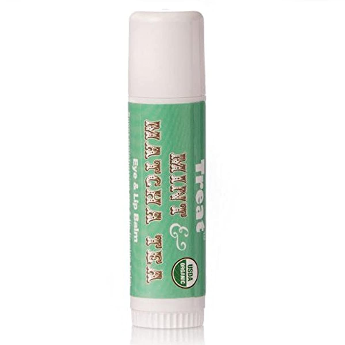 TREAT Jumbo Lip Balm - Mint & Matcha Tea Eye & Lip Balm, Organic & Cruelty Free (.50 OZ)