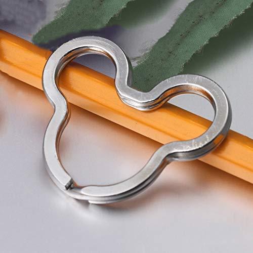 Mouse split key rings nickel plated steel 20 pcs. rings for keys, key chains