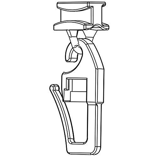 Gleiter mit beweglichen Faltenhaken für 4mm Laufbreite - Gardinengleiter für Vorhangsschienen - 100 oder 50 Stück - Qualität Made in Germany (100)