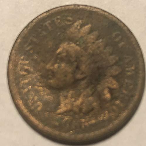 1865 P Indian Head Civil War ERA Penny Cent Good