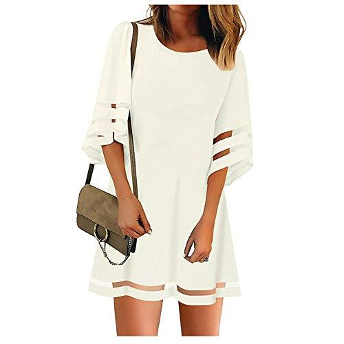 JCZX Summer New Women's Loose Flared Sleeve A-Line Skirt Dress