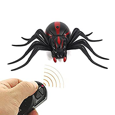 Magical Imaginary Robot Spider Remote Control Spider Fright Props Prank Fake Spider Robot Games for Joke Novelty Spoof Electric Changeable Toy Decoration Party Stage Props