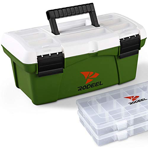 Rodeel Fishing Toolbox with 2 Extra Tackle Boxes Attached, for Storage and...