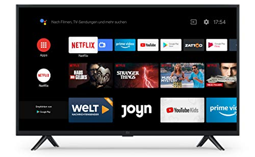 Xiaomi Mi Smart TV 4A 32 Zoll (HD LED Smart TV, Triple Tuner, Android TV 9.0, Fernbedienung mit Mikrofon, Amazon Prime Video und Netflix)